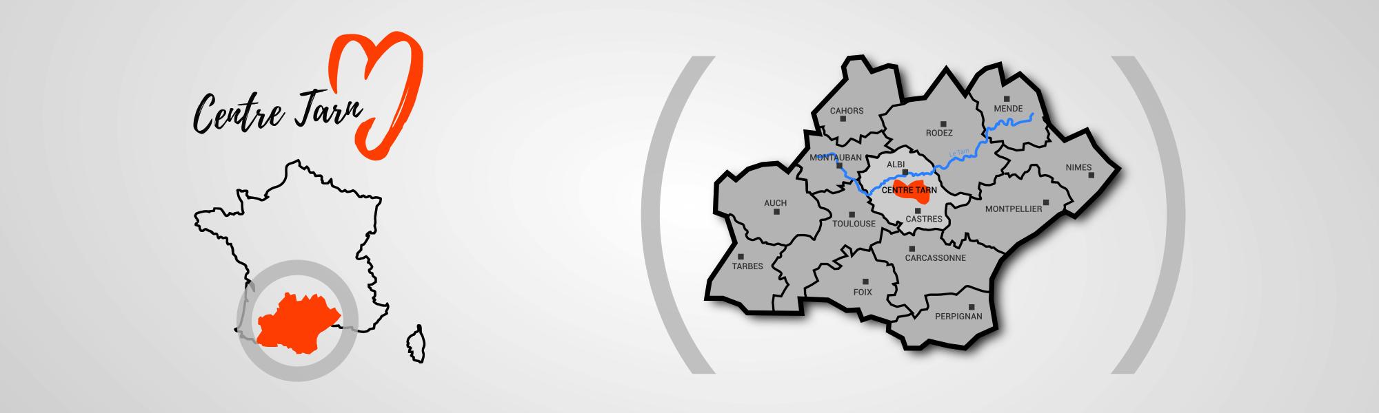 Carte du Centre Tarn